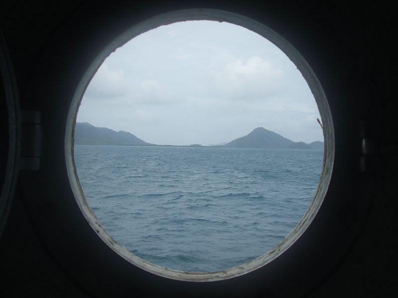 dari jendela kapal