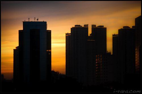 sunset in jakarta